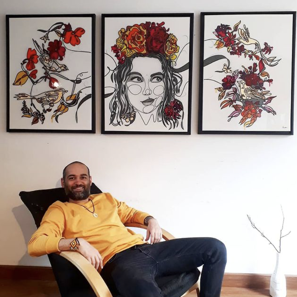 Gonzalo León, artista venezolano