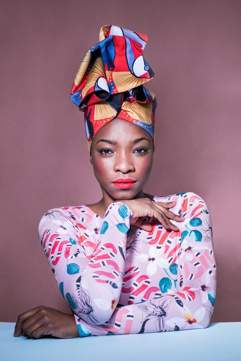 Miss Balanta, turbante africano